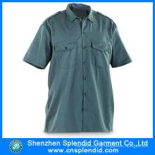 Camisa de manga corta de los hombres de Oxford de los productos de la ropa del trabajo