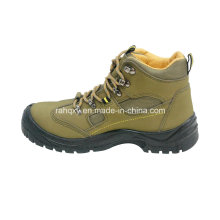 Nubuck Leather Safety Shoes with Mesh Lining (HQ03052)