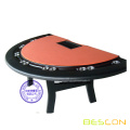 Professional Luxury Semicircle Solid Wood Poker Table