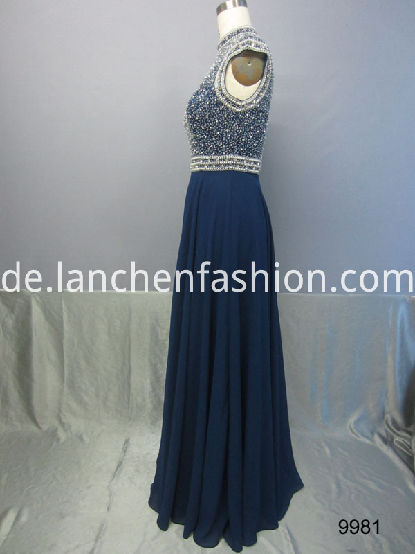 navy dress side