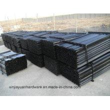2.04kg / M piquete de estrela de aço pintado e galvanizado preto
