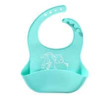 Lindo babero de silicona para bebés