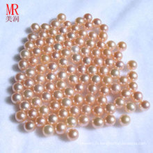 8-9мм розовая натуральная круглая перламутр