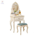 Bedroom furniture paulonia wooden dressing table mirrored dresser