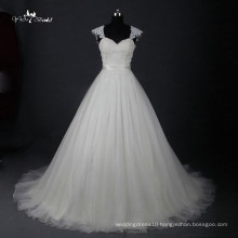 LZ162 Cap Sleeve Custom Made Dress Tulle Wedding Dress Lace Fabric Wedding Dresses Gowns