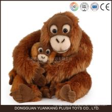 Macaco de suspensão do luxuoso feito sob encomenda dos bichos de pelúcia do orangotango