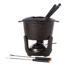 Cast Iron Chocolate Fondue Pot