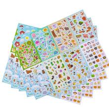 Juego de surtido 1300 hojas de calcomanías de animales de la colección 8 temas PCS para niños, niños