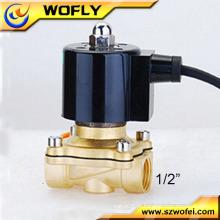 Impermeável 12vdc underwater brass normalmente fechado 1/2 polegada solenóide válvula