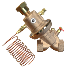 Self-actuated differential pressure control valve DN20