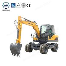 Mini Digger Wheel Hydraulic Excavator ,6.5 t small wheeled excavator