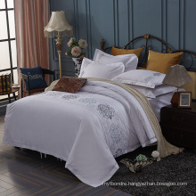 5 Star Luxury Design White Embroidery Hotel Bedding Collection
