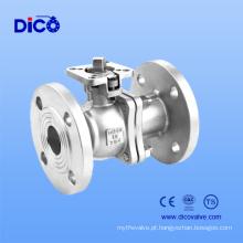 Válvula de bola da flange da carcaça de investimento CF8 2PC com a almofada do ISO 5211