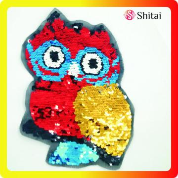 patch hibou couleurs réversible