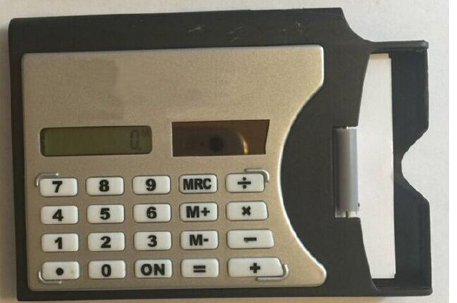 Calculator with Business Card Case