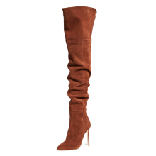 Winter New Boots Fashion Catwalk Shoes Fold Women's High-heeled Boots