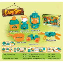 Boutique Playhouse Plastic Toy-Camping Set com 6 Acessórios Dois