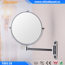 Beelee Chrome Brass Magic Decorative Cosmetic Wall Mounted Mirror