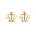 Boucle d'oreille princesse Crown K Gold