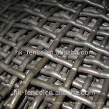 tela de engranzamento de fio frisada de aço inoxidável / malha de aço inoxidável da grade
