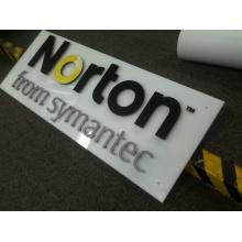 Logo de bureau 3D personnalisé plaque acrylique (ID-07)