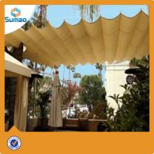 arena beige Patio de recreo Sombra Estructura Sombra Vela Canopy Toldo Changzhou fábrica