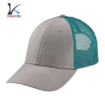 moda personalizada de alta calidad barata 6 panel llanura pre-curvada malla en blanco bebé gracioso azul snapback gorra de béisbol del camionero