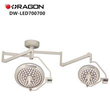 La double tête opérant la lumière sans ombre a mené la lampe chirurgicale