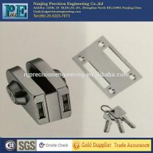 Doble puerta de cristal de acero inoxidable de fabricación de latón de bloqueo de doble cabeza de bloqueo