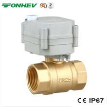 """1 """"Válvula on-off motorizada de latão elétrico de 2 vias para rega automática (T25-B2-B)"""