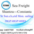 Shantou to Constanta LCL Consolidation Service