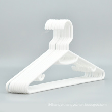 Hot sale cheap white plastic clothes hanger plastic top hanger for supermarket and wholesale
