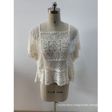 Fashionable Lady's Embroidered Blouse