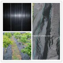 Черноты 90gsm PP Сплетенный geotextile ткани