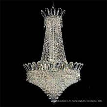 Petit élégant chrome antique cristal conduit lustre pendentif lumière