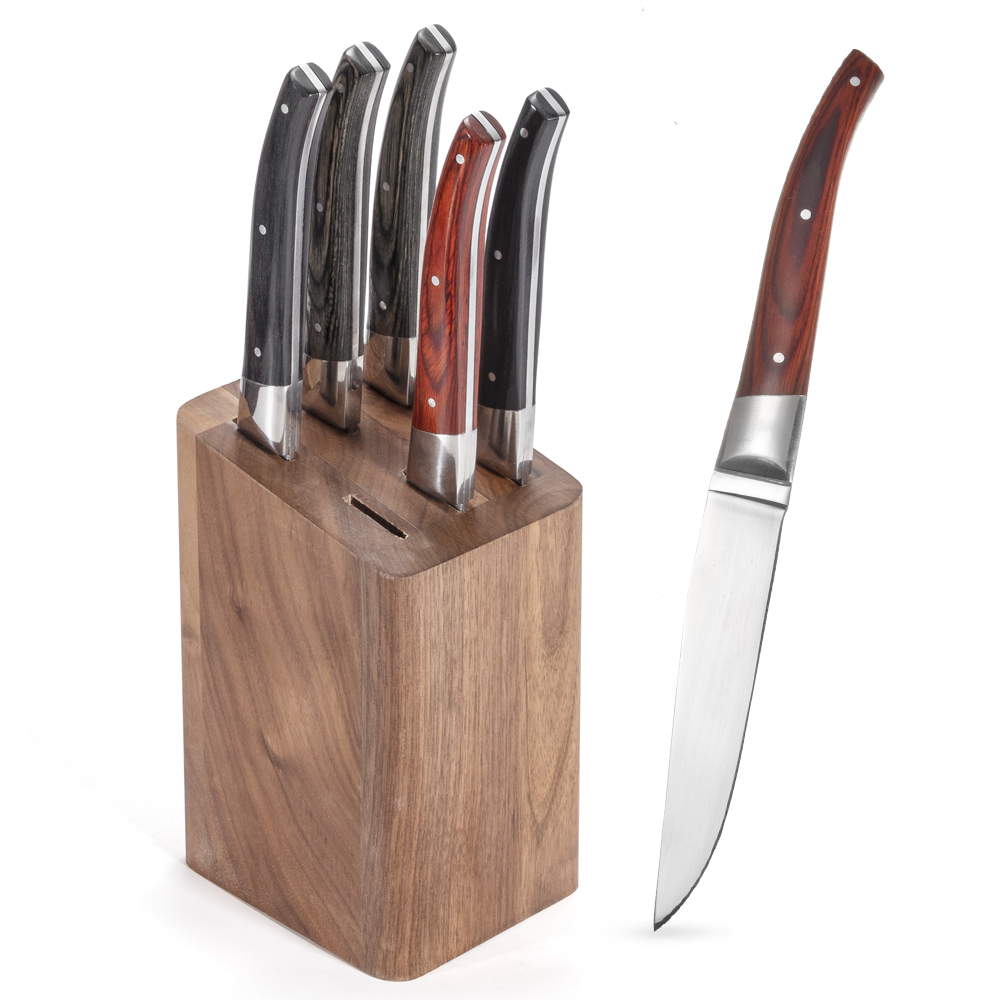 6 Pieces Different Colors Steak Knives