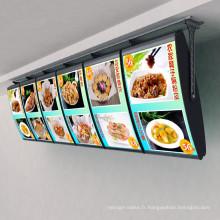 Boîte à lumière ultra-mince pour l'alimentation
