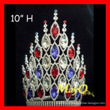 Novos grandes acessórios de cabelo princesa coroas de festa de casamento com cristal cheio