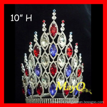 Newest large princess hair accessories wedding pageant crowns with full crystal