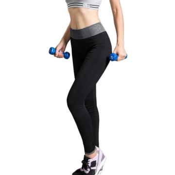Awesome Design Gym Pants Ladies Yoga Pants con contraste color pretina