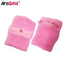 brazalete de algodón y banda para la cabeza de algodón color terry sweatband