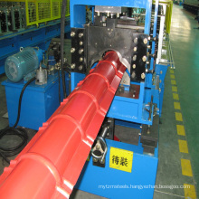 rain roof making aluminium lowes metal roofing cost and ridge cap roll forming machine
