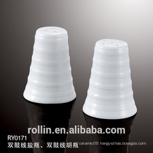 High Quality Hotel Porcelain Pepper Shaker Ceramic Salt &amp