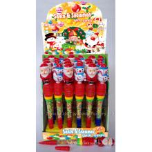 Whistle Santa und Schneemann Pen Toy Candy (100502)