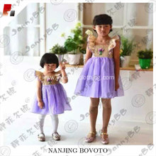 kids smocking flower wholesale party dress