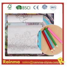 """Kids Drawing Roller Paper Set with 3.5""""Color Pencil"""