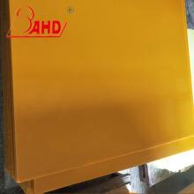 Hoja de plástico de poliuretano amarillo oscuro