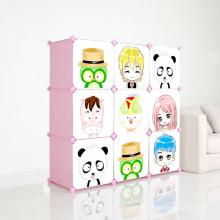 DIY Plastic Cabinets with Cartoon Doors for Children (ZH001-3)