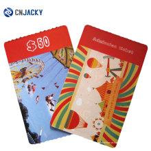 Cartão de papel de chip Utl EV1 para parque de diversões / cartão de papel RFID