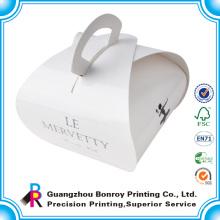 Diseño de caja de pastel de bodas Cupcake de papel decorativo pequeño